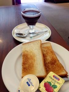 ロイヤルホストでの朝食